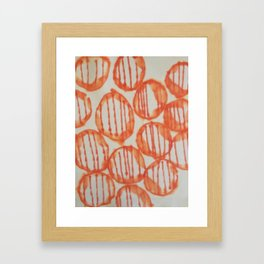 O-range Lanterns Framed Art Print