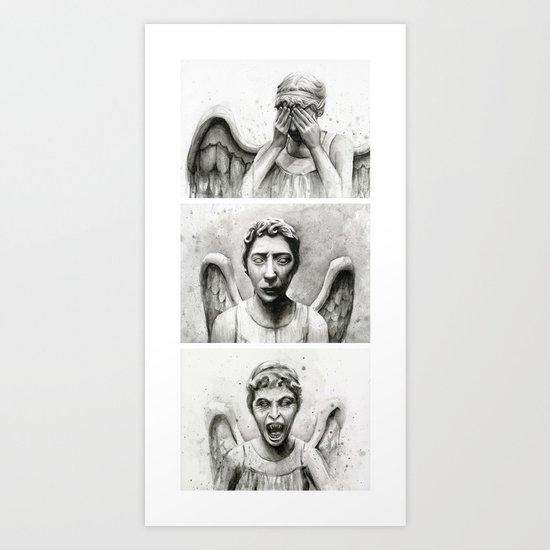Weeping Angels Art Print