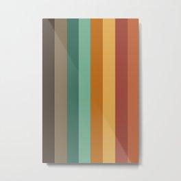 Embossed Stripes Metal Print