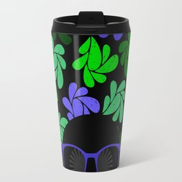 Afro Diva : Indigo Blue & Green Travel Mug