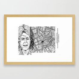 give us yer fuckin' money Framed Art Print