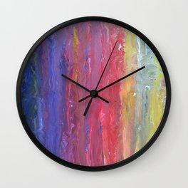 Rainbow Fingers Wall Clock