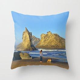 Morning On The Oregon Coast Throw Pillow