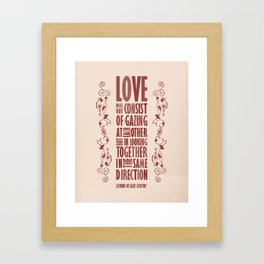 Love Direction Framed Art Print