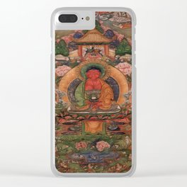 Buddha Amitabha in His Pure Land of Suvakti Clear iPhone Case