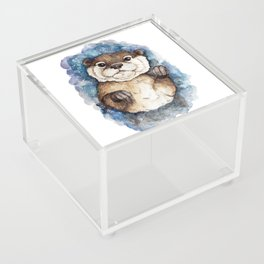 Watercolor Otter Acrylic Box