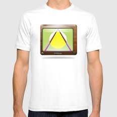 Kaleidoscope TV version A  White SMALL Mens Fitted Tee