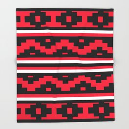 Etnico red version Throw Blanket