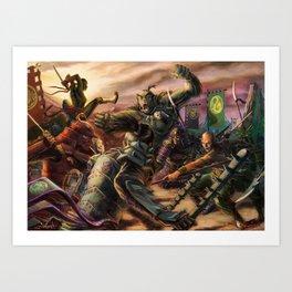 Chaos of Battle Art Print