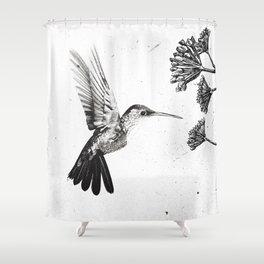 Humming Bird & Flower Shower Curtain