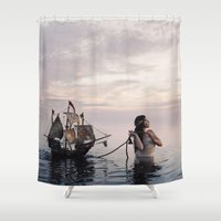 neverland Shower Curtains featuring Finding Neverland by Mila Photographie