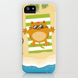 Purrfect Summer iPhone Case