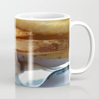 fries Mugs featuring Fries by Wild World Of Food