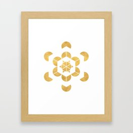 HEXAHEDRON CUBE sacred geometry Framed Art Print
