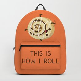Cartwheeling Cinnamon Roll Backpack