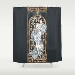 A Scandal in Belgravia - Mucha Style Shower Curtain