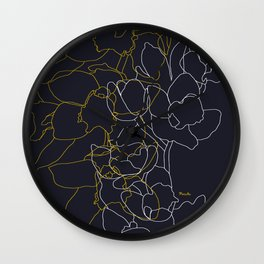 Pure poetry and some flowers Wall Clock