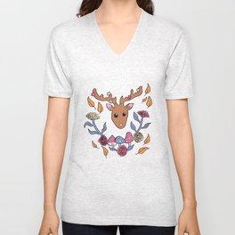 Deer nature Unisex V-Neck