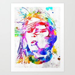 Bardot Watercolor Art Print