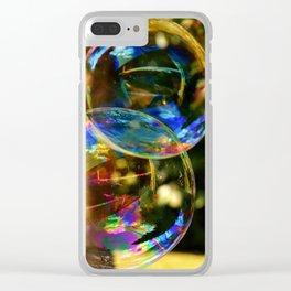 Bubbles | Bulles Clear iPhone Case