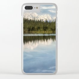 Mt. Denali Reflected Clear iPhone Case