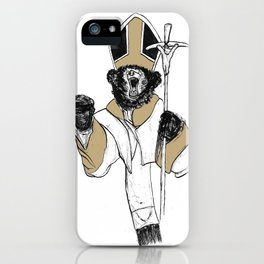 The Bear Pope iPhone Case