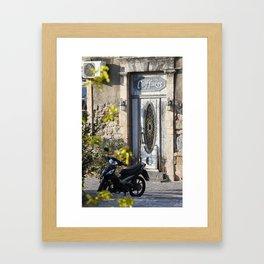 Door in port of Aegina 2 Framed Art Print