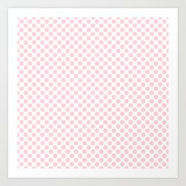 Large Light Soft Pastel Pink Spots on White Art Print