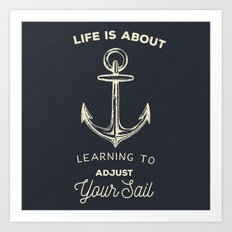 Learn to Adjust your Sail Art Print