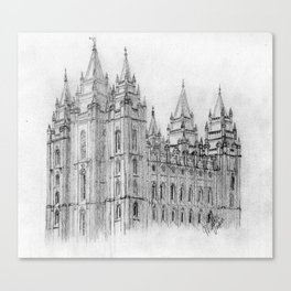 Salt Lake LDS Temple Canvas Print