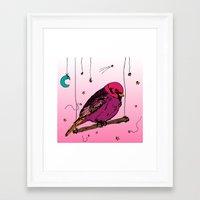 birdy Framed Art Prints featuring Birdy by Gwladys R.