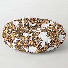Monarch Butterflies Migration Floor Pillow