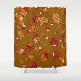 Nutty about Nuts Shower Curtain
