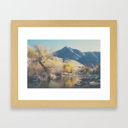 down by the river ... Framed Art Print