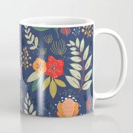 Navy Floral Coffee Mug
