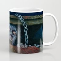 evil dead Mugs featuring THE EVIL DEAD by chris zombieking
