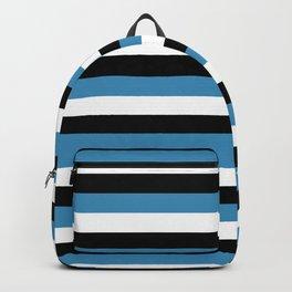 botswana flag stripes Backpack