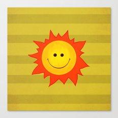 Smiling Happy Sun Canvas Print