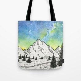 Mountain Skies Tote Bag