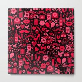 Valentine's Day Icons Metal Print