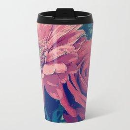 Pink & Red Metal Travel Mug