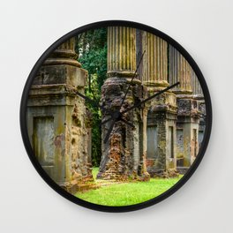 Windsor Ruins Columns Wall Clock