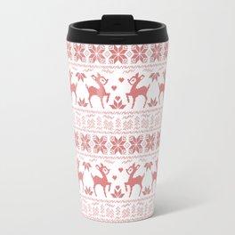 Christmas pattern. Cross-stitch Travel Mug