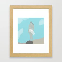 At the Ocean (modern flat graphic) Framed Art Print