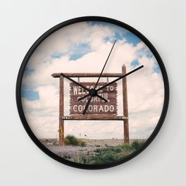 Welcome to Colorful Colorado Wall Clock