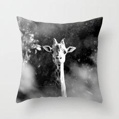 portrait of giraffe Throw Pillow