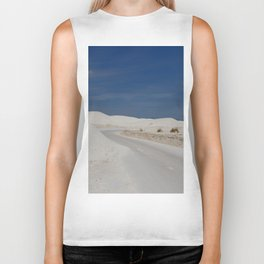 White Sand Reaches Up To The Horizon Biker Tank