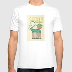 galáctico MEDIUM Mens Fitted Tee White