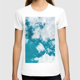 Sky Blue - Clouds Skyscape Photography T-shirt