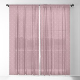 Rose checks - Oil color textured pattern (I) Sheer Curtain